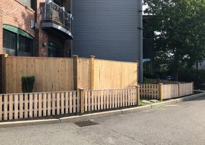 Finished Backyard, Fence from the street