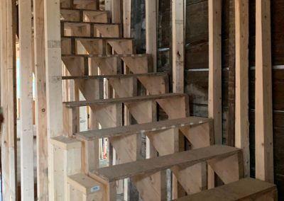 Stoneham stairs under construction