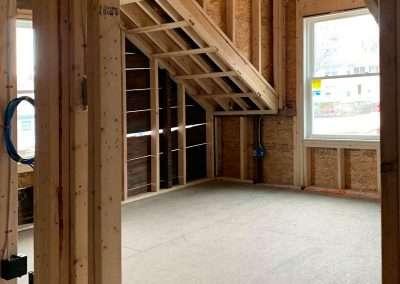 Stoneham, bedroom under construction