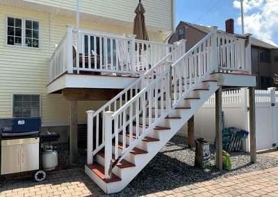Waze rebuilding this deck in Waltham